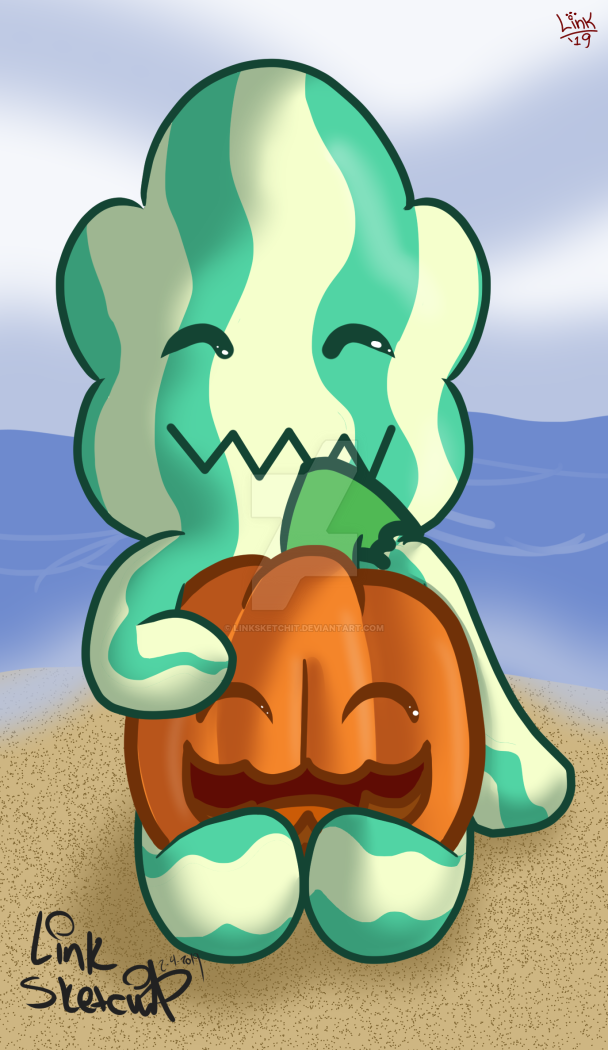A cute drawing I did of Watermelon Steven and Pumpkin hanging out together. I added this drawing to my teepublic shop without the background in case you're looking something cute to get for yoursel...