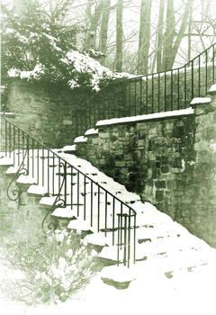 Dreamy Snow Staircase
