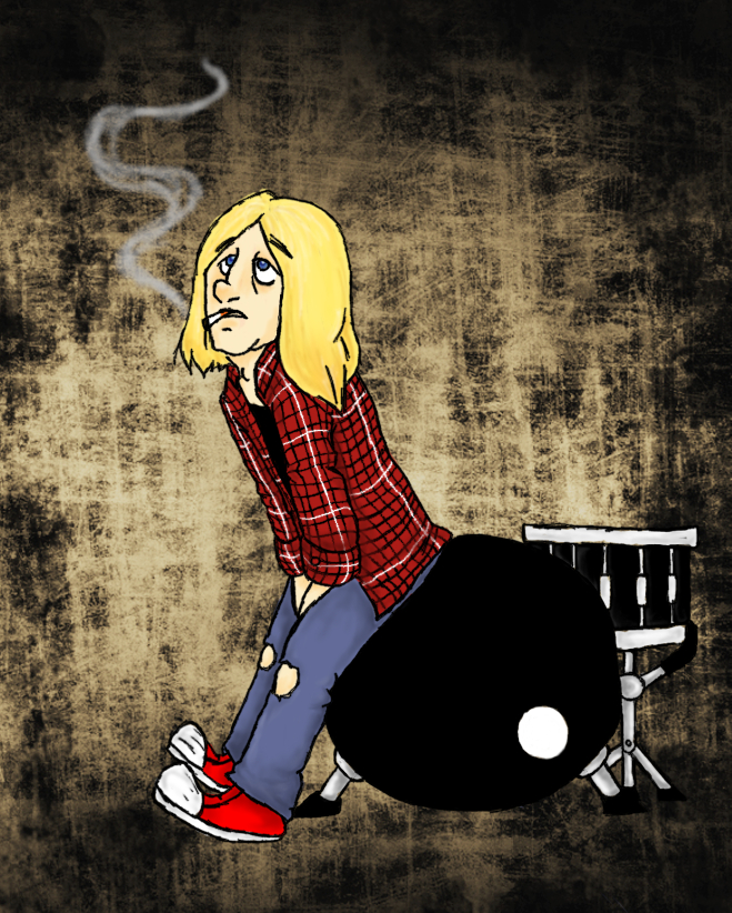 Kurt, get the f*ck of my drums! by tytuska