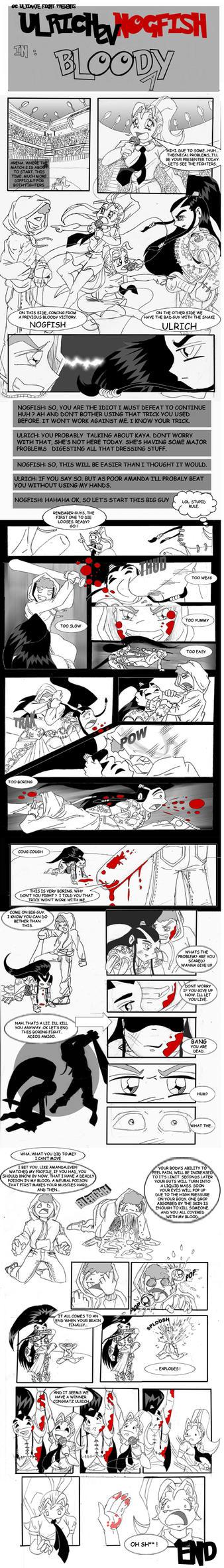 OC Fighting -Ulrich vs Nogfish by Mr-Roach