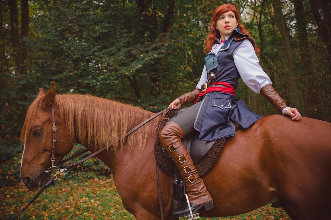 Elise de la serre on horseback by Mimigyaru