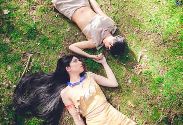 Pocahontas and Nakoma by Mimigyaru