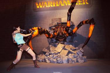 Lara croft figth by Mimigyaru