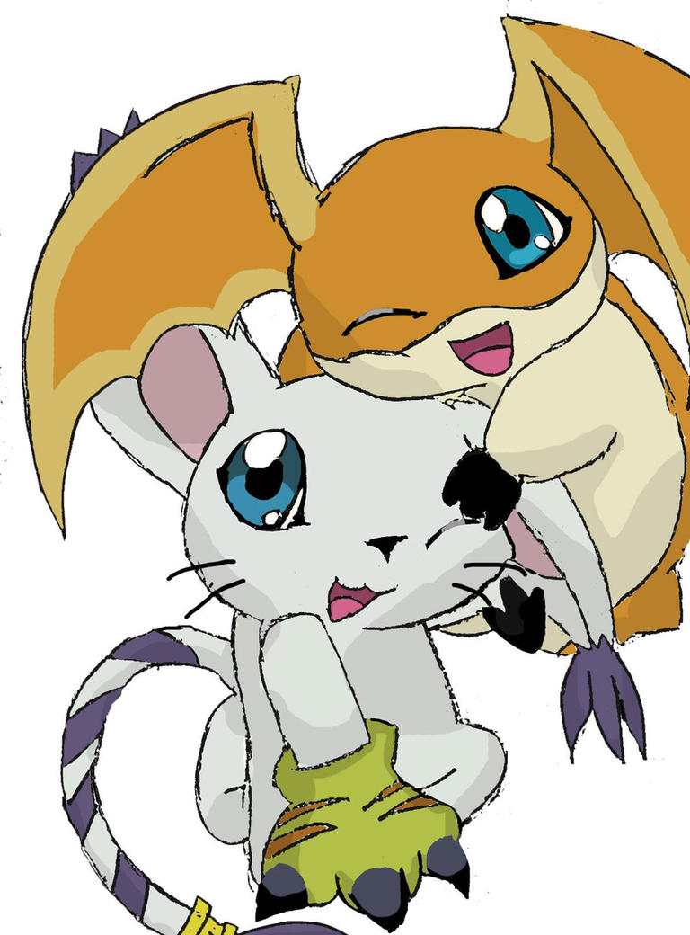 Gatomon And Patamon PataGato play by patamon-chan