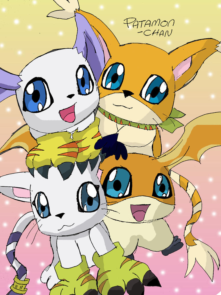 Gatomon And Patamon Family by patamon-chan