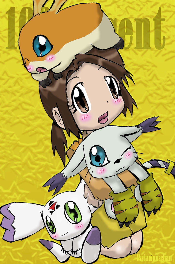 My 3 Digimons by patamon-chan