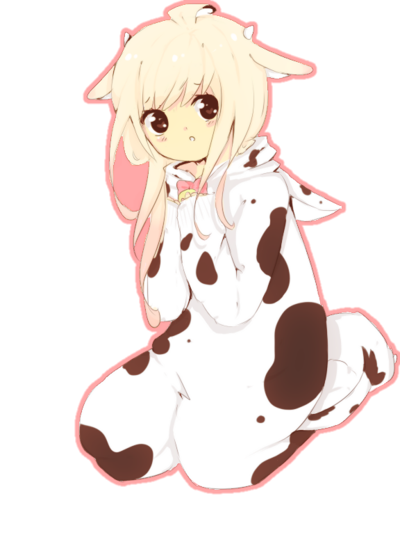 incredible anime cow outfit
