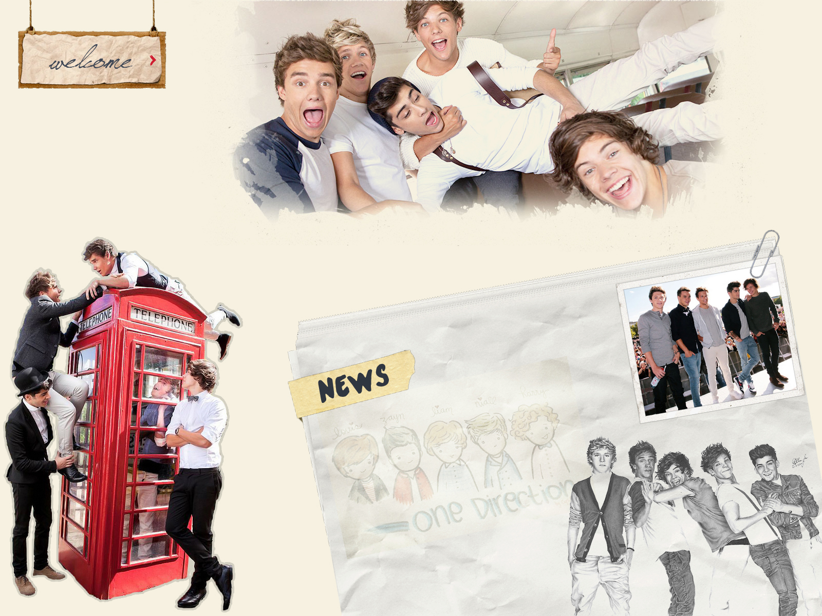 One Direction Wallpaper 1600x1200 By Filippey