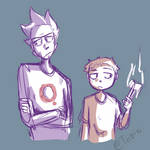 Rick and Morty Doodle
