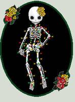 Light Spangled Skeleton by Achordingly