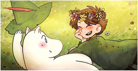 Snufkin And Moomintroll.. by Ghosticalz