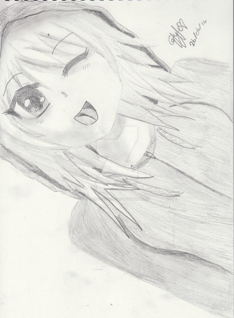 Manga Joyful Girl sketch by gabseedoodle
