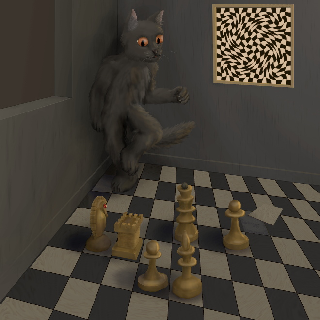 Cat and Chess by 7Lithium