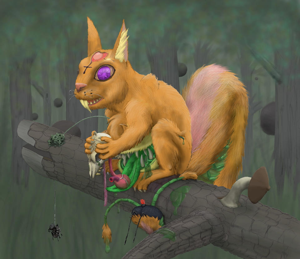 Hungered Squirrel by 7Lithium