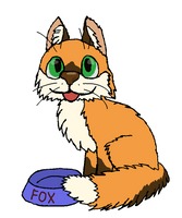Sticker-fox-hungry by 7Lithium
