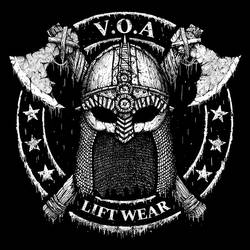 Voa lift wear viking helmet with axes by GrimsoulArt