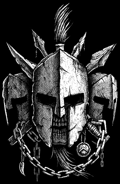 Spartan helmet by GrimsoulArt