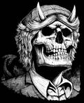 AC/DC Angus Young skull by GrimsoulArt