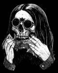 Ozzy skull face by GrimsoulArt