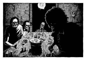1974 Texas chainsaw massacre eating scene by GrimsoulArt