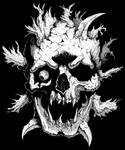Weird angry skull by GrimsoulArt