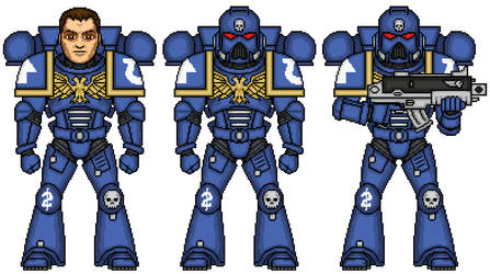 Ultramarine Tactical Marine - 2nd Company by SpectorKnight