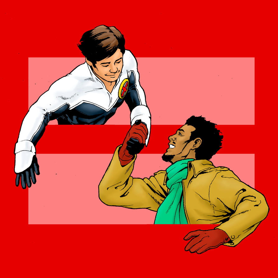 Marriage Equality: Northstar and Kyle by carverhouse