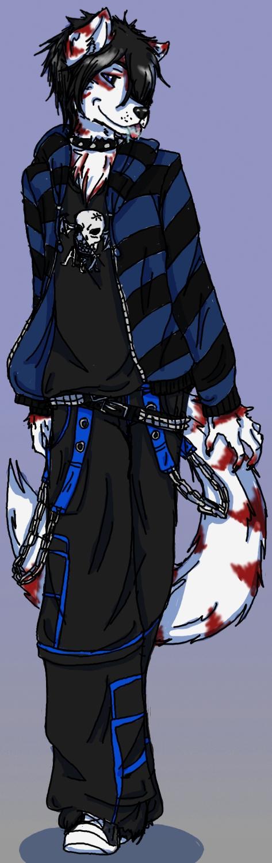 Wolf Anthro Boy Wolf Boy by Wolfmoondeath