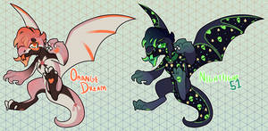 [OTA adopts] Mohawk dragons (Orange dream left!)