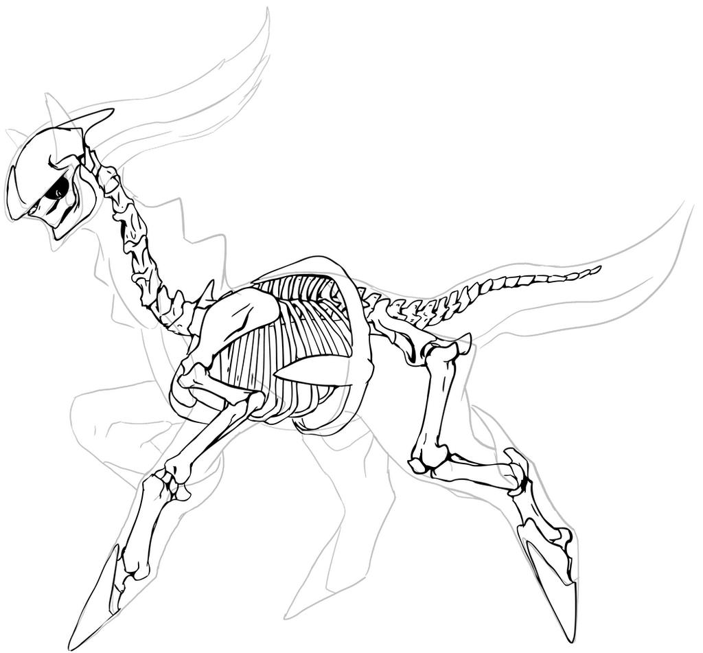 Pokemon Kleurplaten Silvally Arceus Skeleton By Chibi Pika On Deviantart