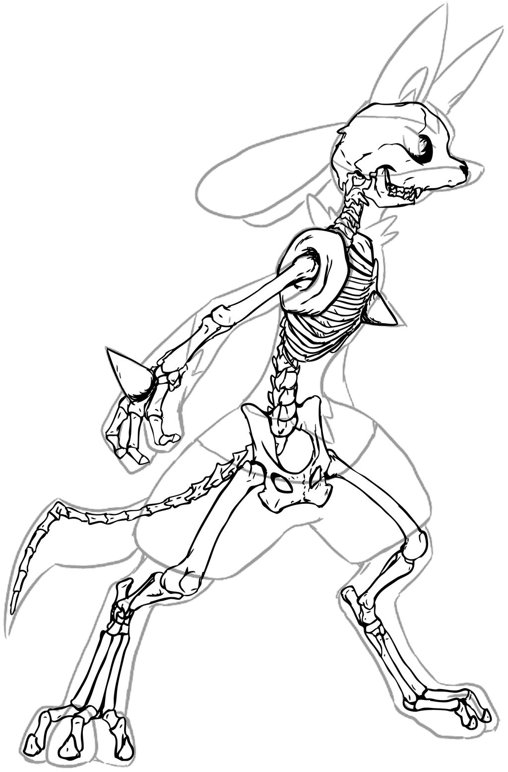 Lucario Skeleton By Chibi-Pika On DeviantArt