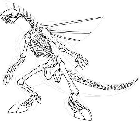 Palkia Skeleton