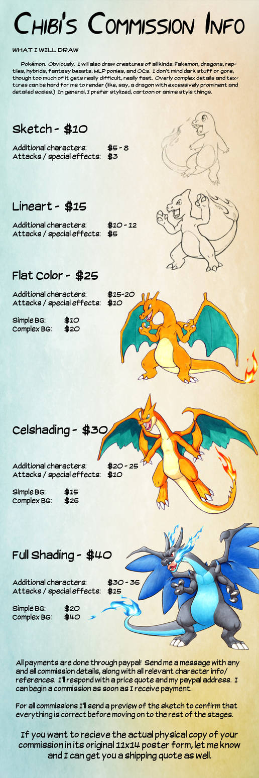 New Commission Price Chart!