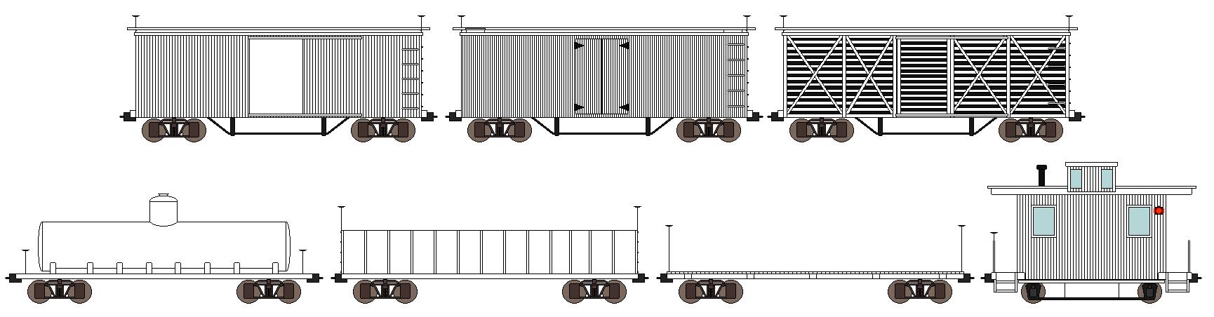 19th Century Freight Car Bases by DanielArkansanEngine