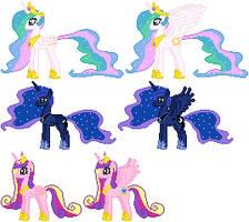 Alicorn Princess Sprites