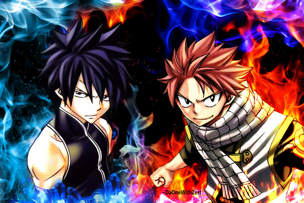 Natsu And Gray Fairy Tail By DaOneWithZest