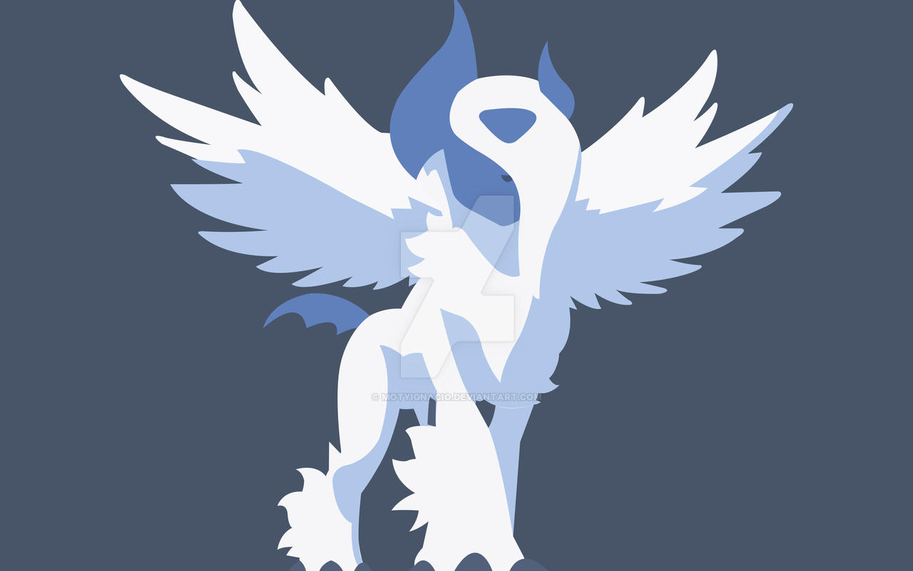 Mega Absol Flat Design by MotyIgnacio on DeviantArt