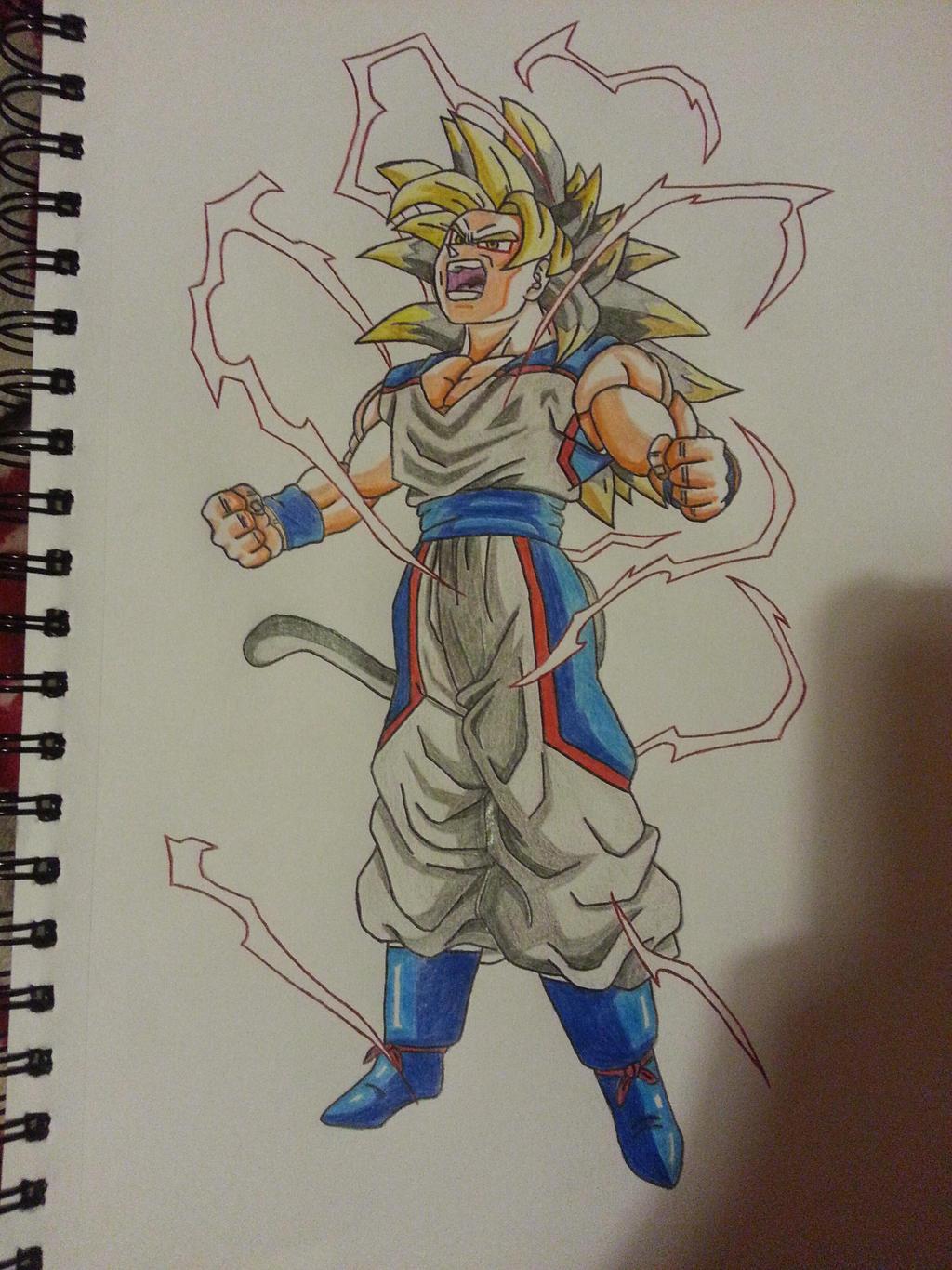 Son Goku Super Saiyan 5 Dbna By Inglip007 On Deviantart