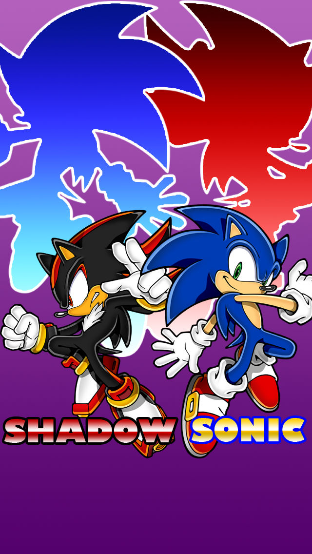 Sonic And Shadow Iphone Wallpaper By Inglip007 On Deviantart