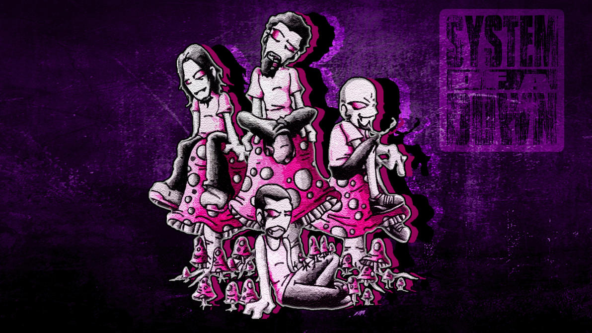 wallpaper system of a down mushroom cult by isaacklein