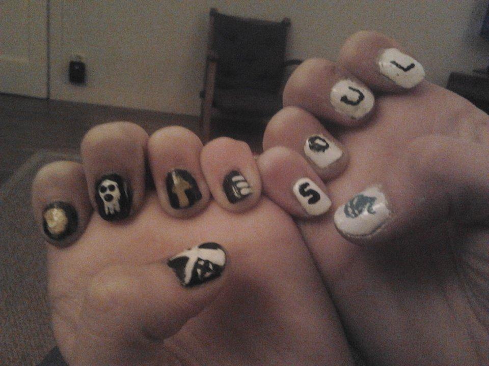 soul eater nails by ravensaravengirl