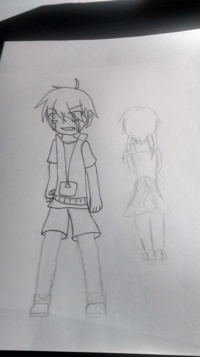 unfinished kagerou days drawing by ravensaravengirl