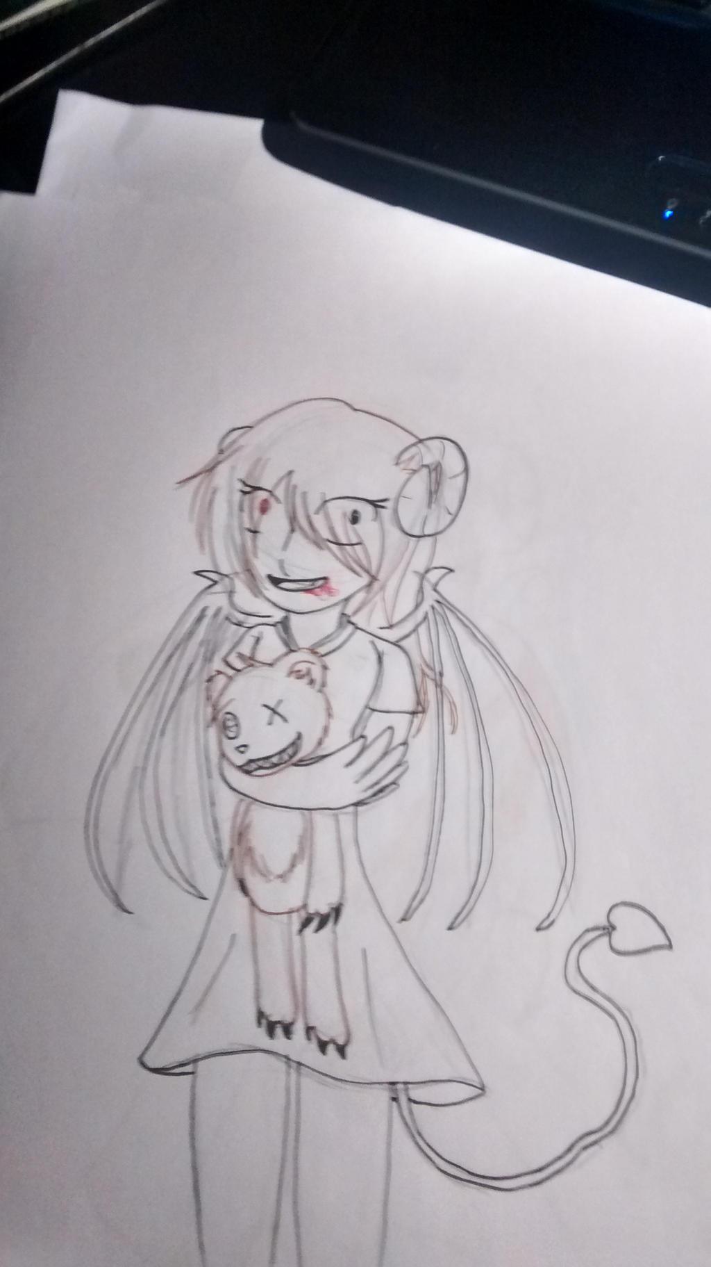 psycho demon girl by ravensaravengirl