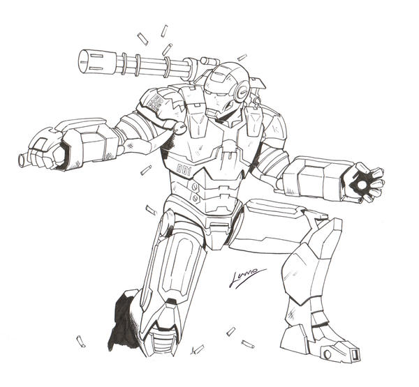 War Machine Marvel Coloring Pages Coloring Pages