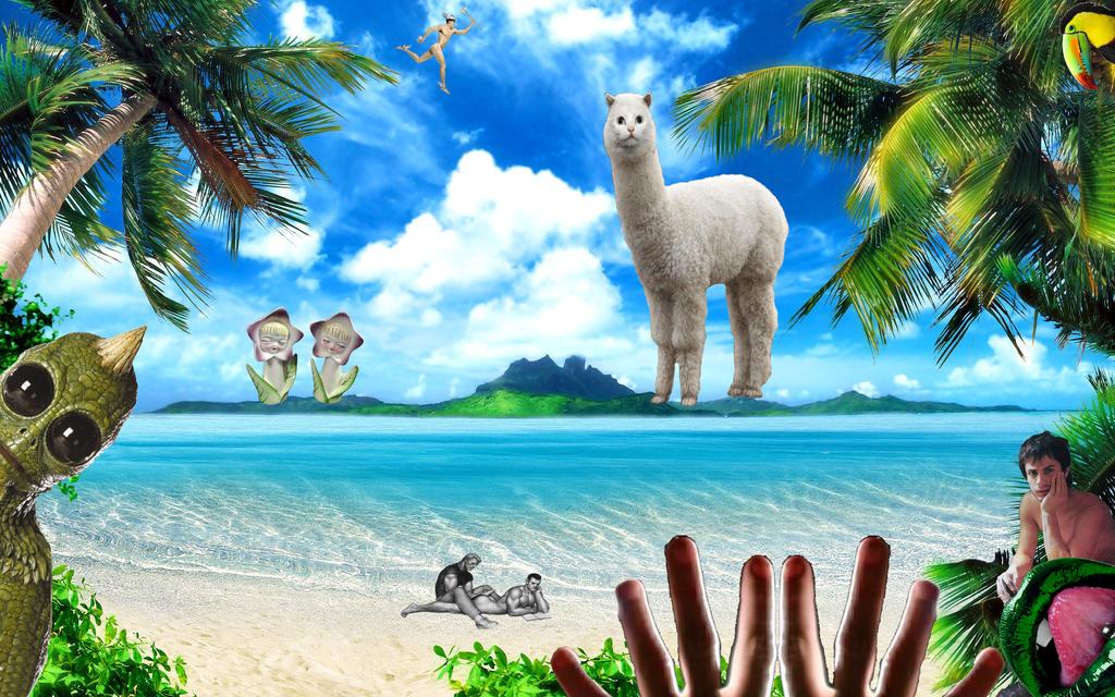 Tropical-desktop-wallpaper managerie by brent4861