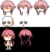 [MapleStory Sprite] Gasai Yuno Hair by OhShiNiNjA