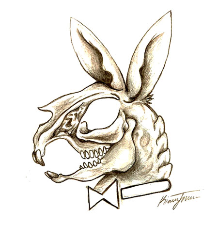 playboy bunny skull by wikidtron on deviantart. Black Bedroom Furniture Sets. Home Design Ideas