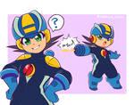 Megaman.exe doodles by Kaeotical