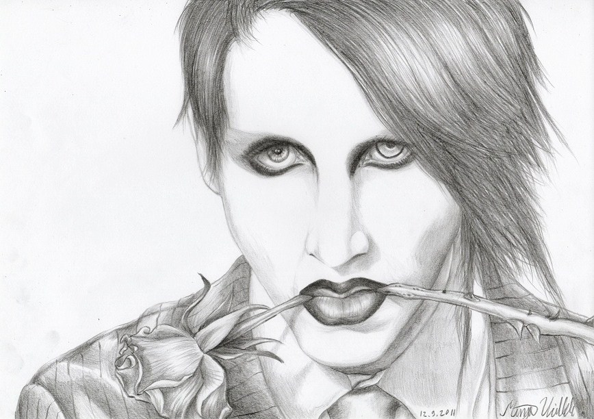 Marilyn Manson By Kamm0 On Deviantart Marilyn Coloring Pages