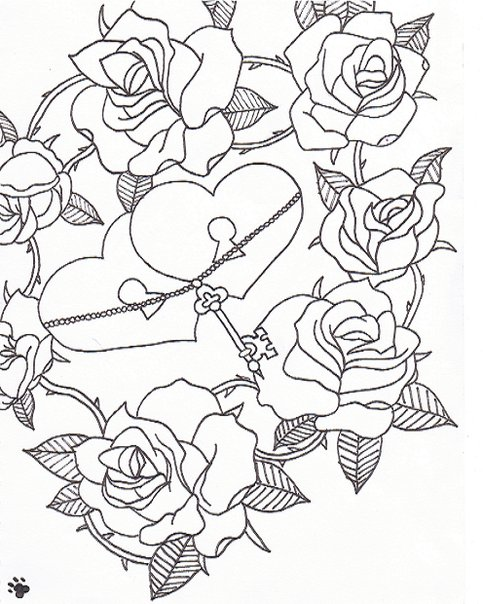 Hearts And Roses And Stars Drawings Hearts and roses by stephii19